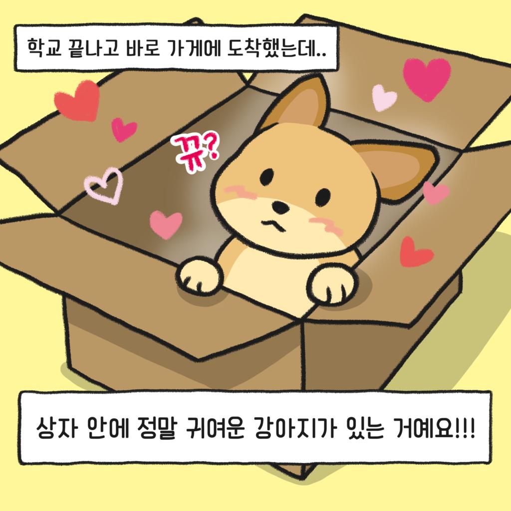 강아지 만화